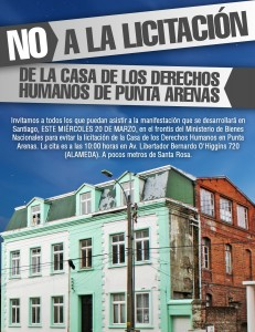 Manifestación Casa de DDHH Punta Arenas