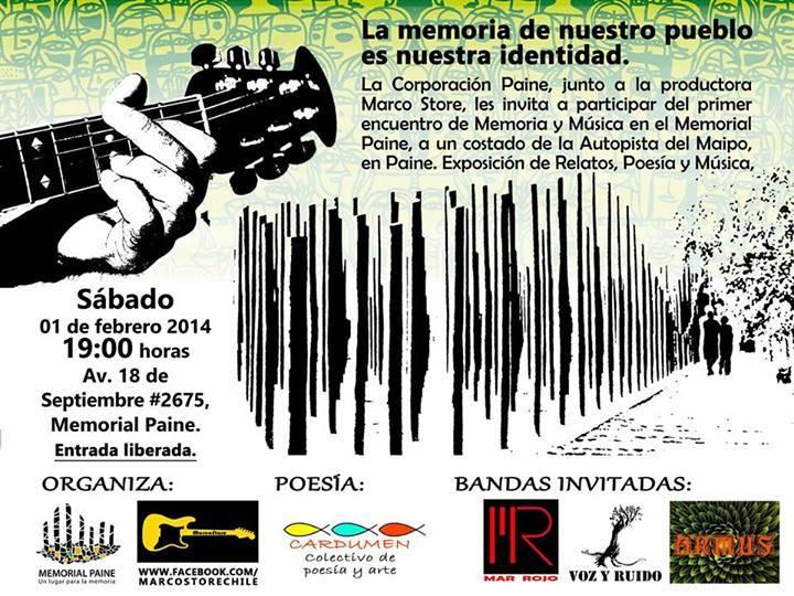 Afiche Encuentro Memoria y Música